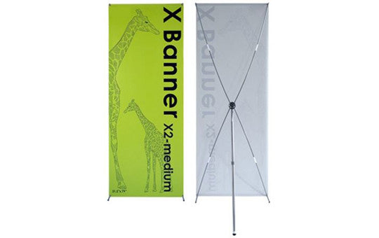 "X2 Banner Stand 31.5"" by 79"""