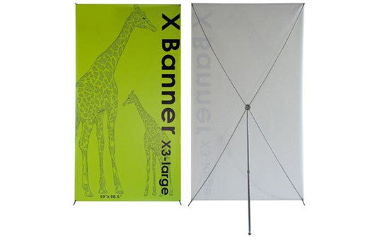 "X3 Banner Stand 59"" by 98.5"""