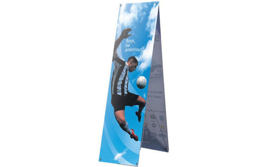 Zephyr 2' x 5' Outdoor Double Sided Banner Stand Graphic Only