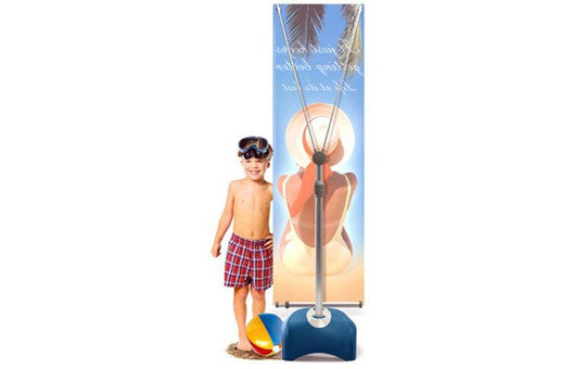 Zephyr 2' x 5' – 3' x 6' Outdoor Single Sided Banner Stand Graphic and Frame Combo