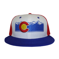 Colorado Flat Bill Mountain Hat Red