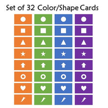 Load image into Gallery viewer, Ready to Go Set of Click Mystery Game Color/Shape Cards