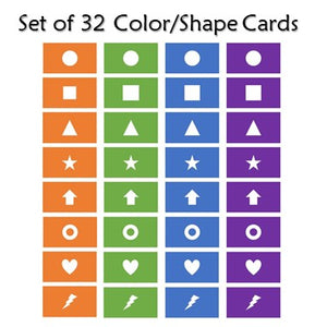 Ready to Go Set of Click Mystery Game Color/Shape Cards