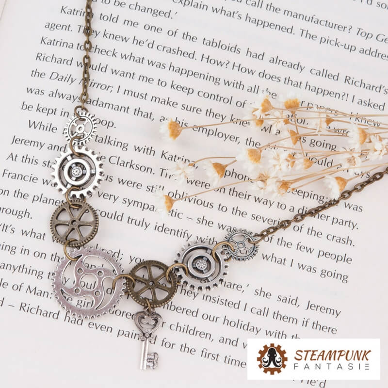"Collier à engrenages ""Irene Adler"" - Steampunk Fantasie"