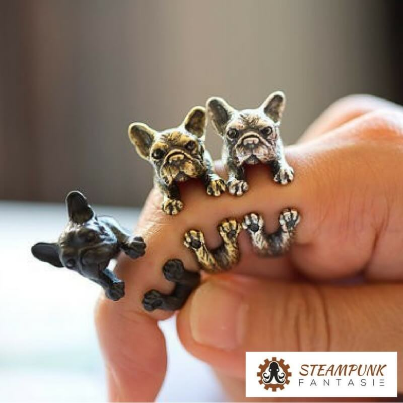 "Bague ""Churchill Bull"" - Steampunk Fantasie"