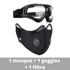 "Masque de protection ""Steam Protect"", anti-pollution PM2.5 au charbon actif"