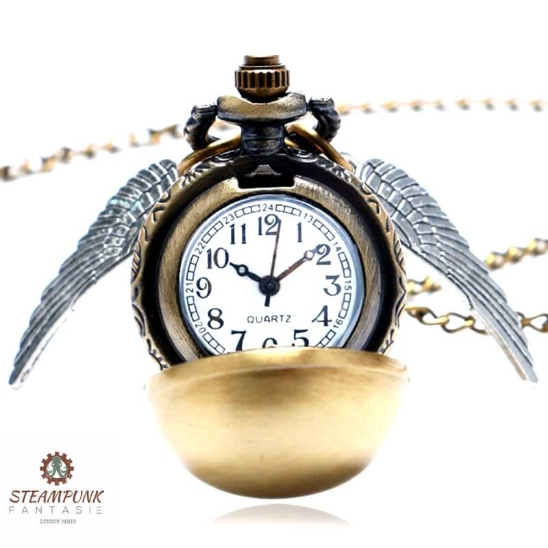 "Montre Pendentif vintage ""Flying Doris"" - Steampunk Fantasie"