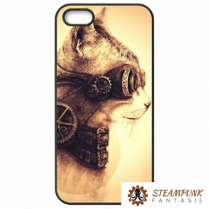 "Coque mobile ""Steampunk Cat"" - Steampunk Fantasie"