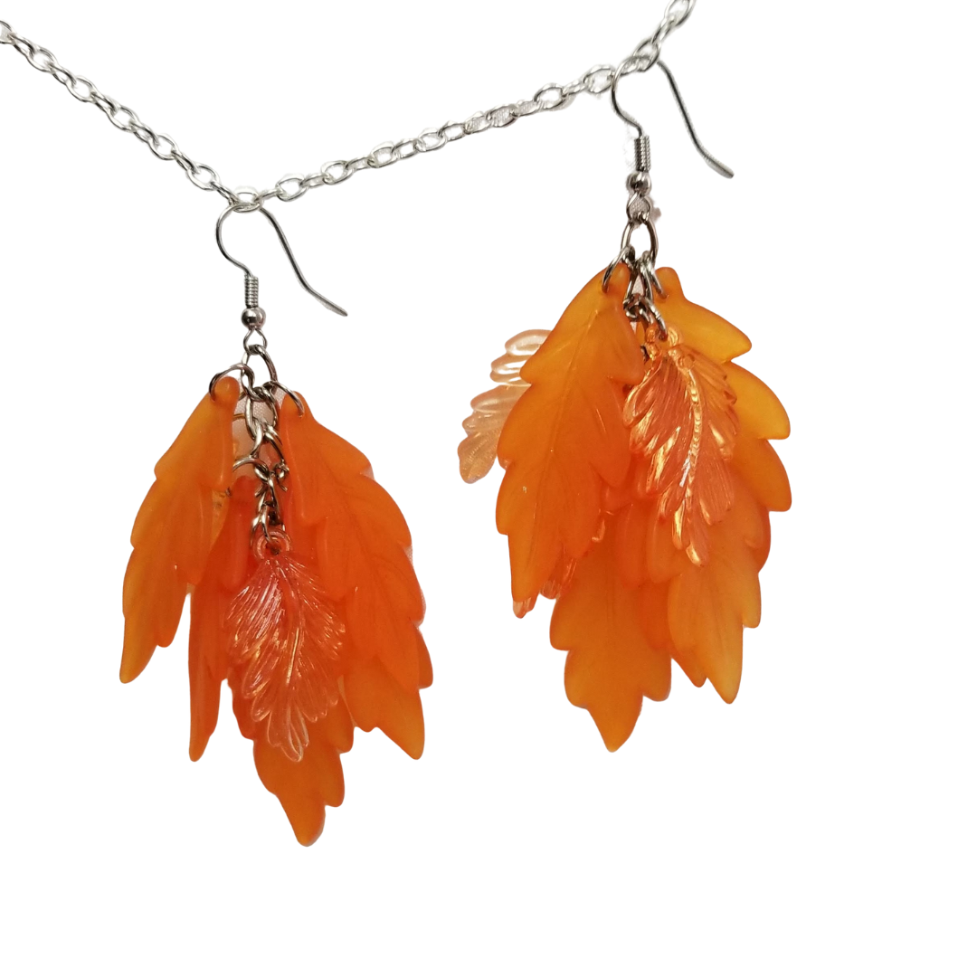 Orange Leaves Set