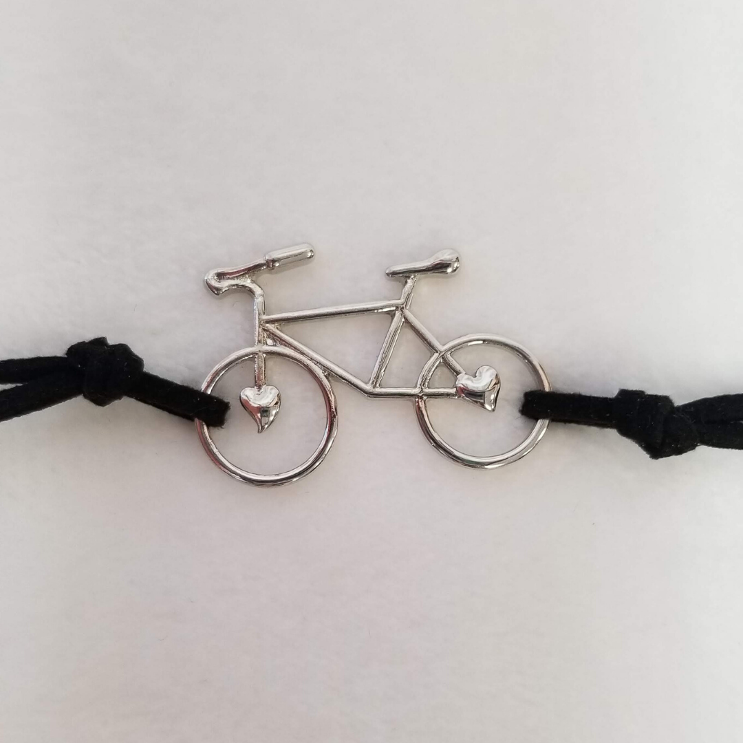 Silver Bicycle Bracelet - DearBritt