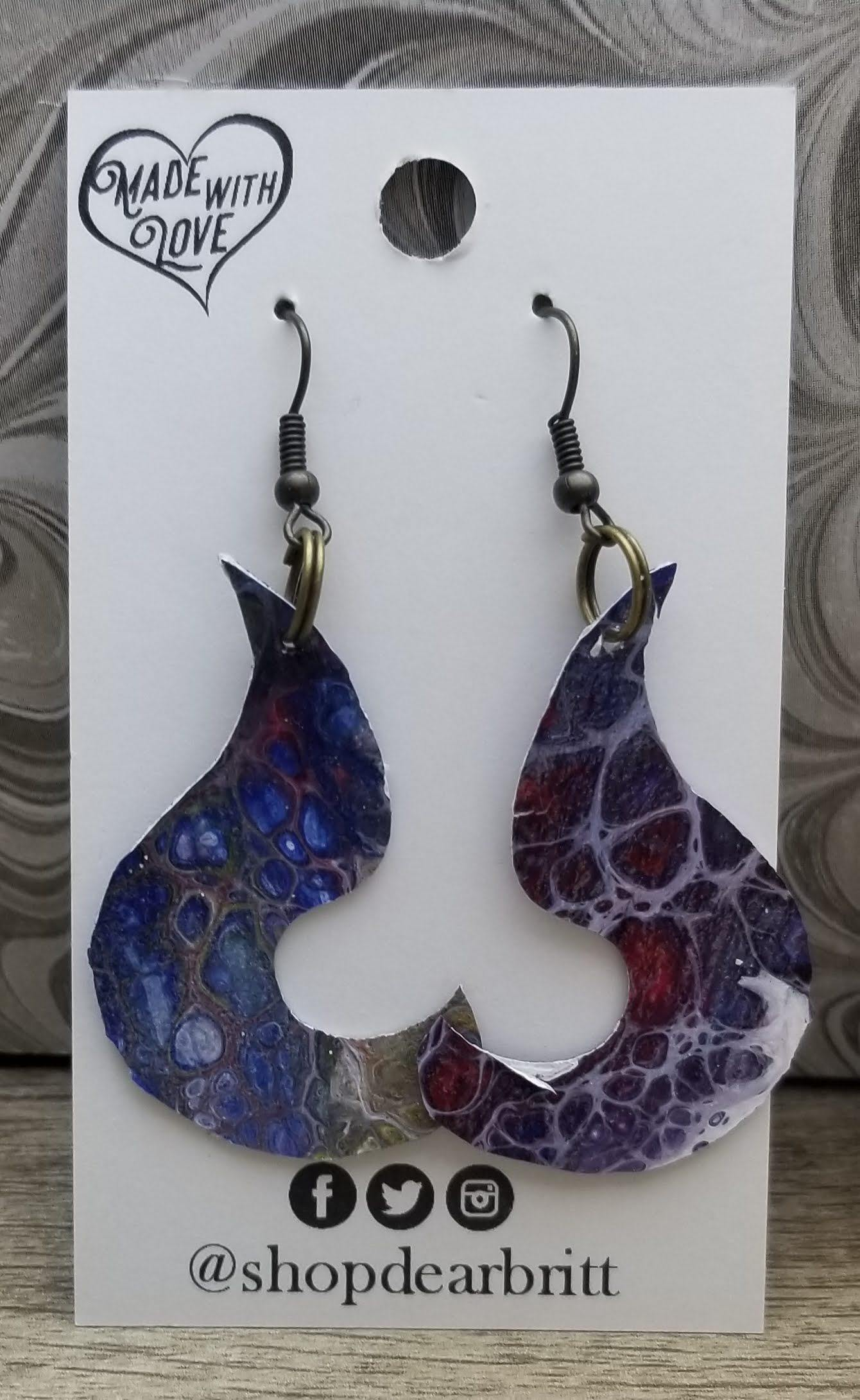 MM~Canvas Earrings