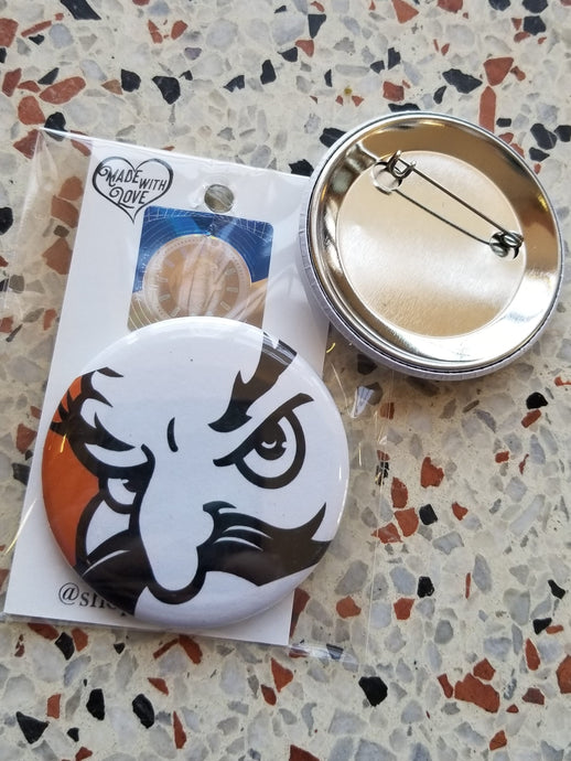 Pistol Pete Close Up Pin/Magnet