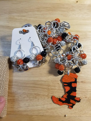 Ok State Charm Jewelry Set