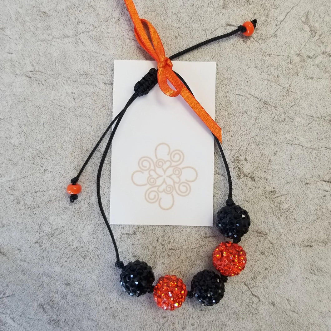 Orange & Black Knot Bracelet