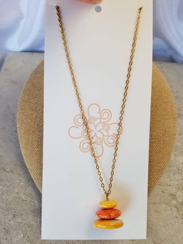Orange Cake Necklace