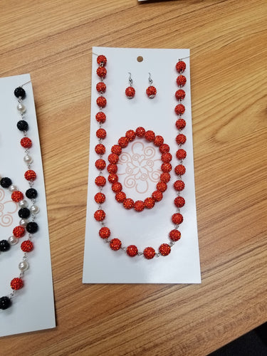 Round Sparkle Bead Jewelry Set