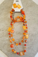 Orange Multi Bead Set