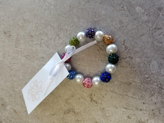 Colorful Sparkle Pearl Bracelet-Child Size