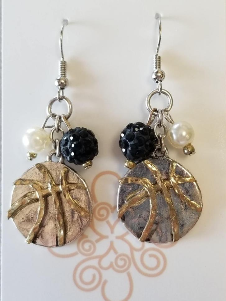 Basketball Charm Earrings