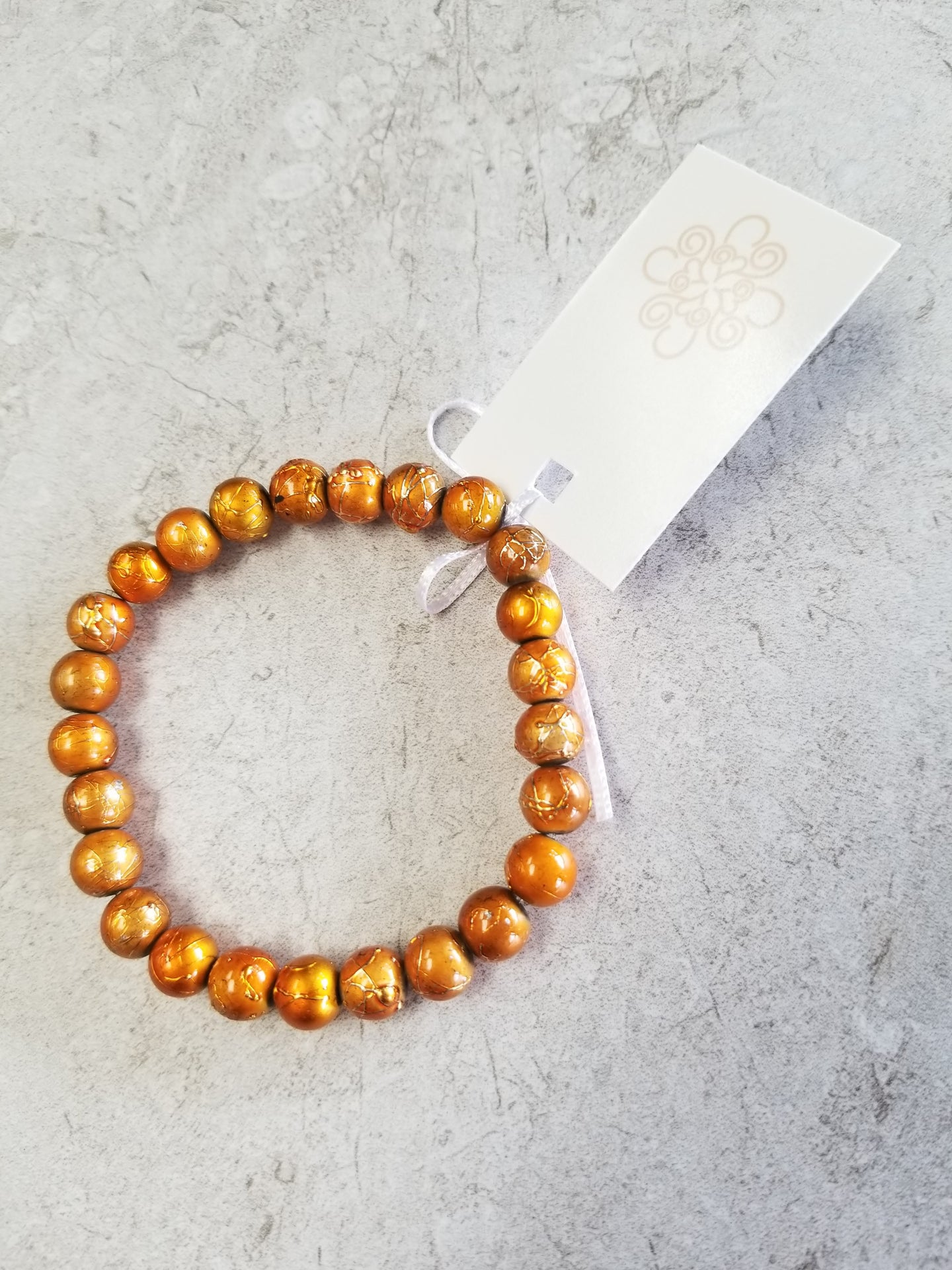 Orange Splatter Bracelet