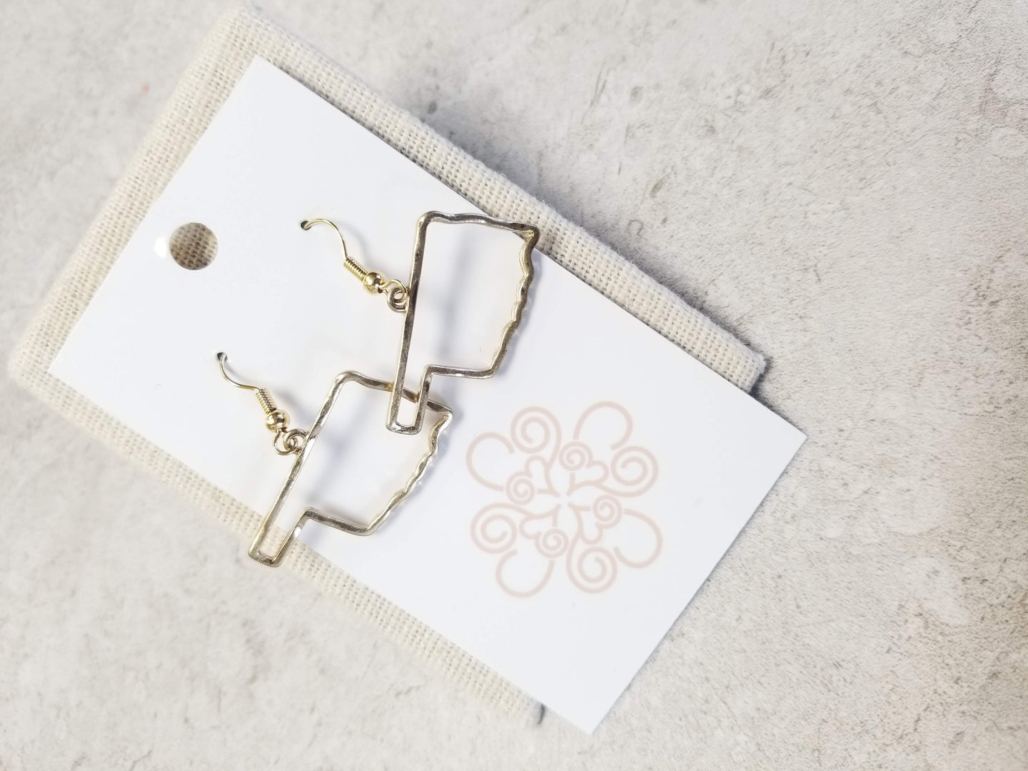 Oklahoma Outline Earrings