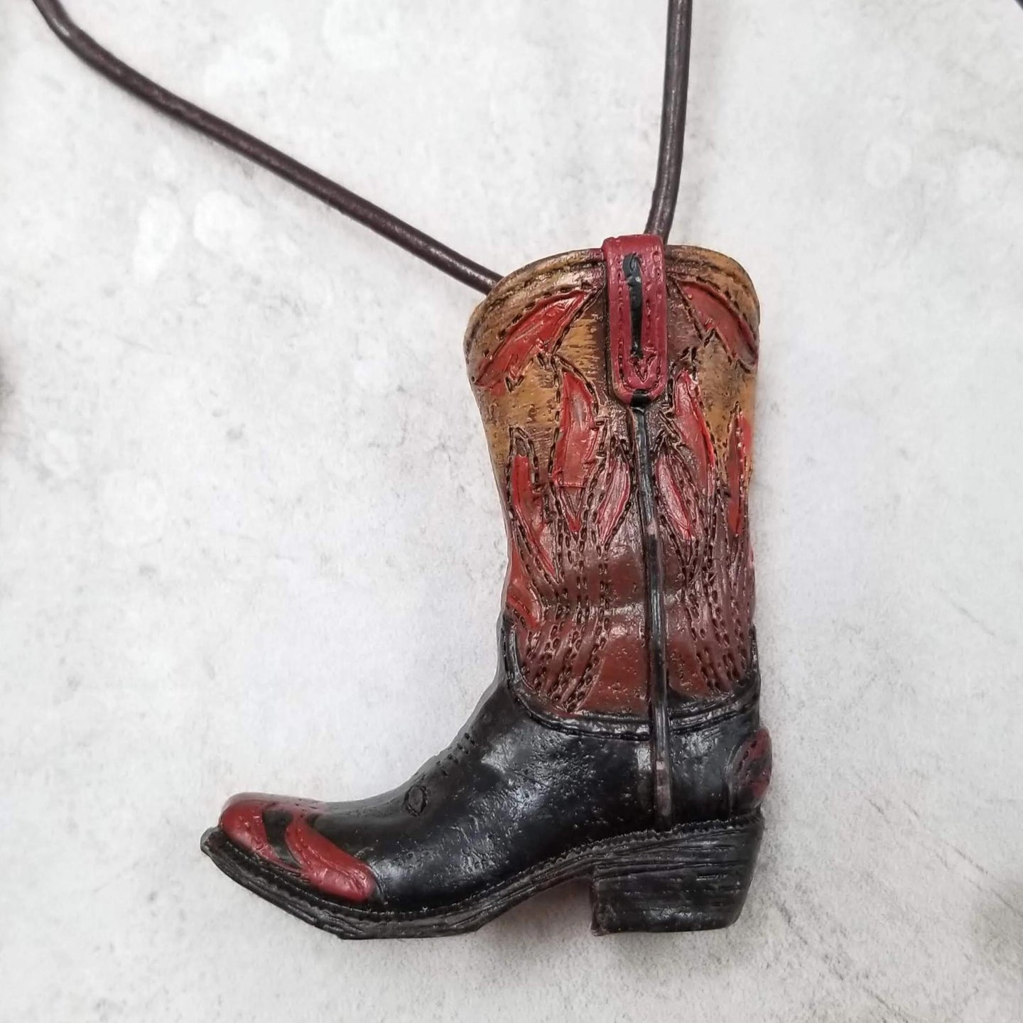 Cowboy Boot Necklace