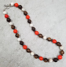 Orange Turquoise & Wood Set