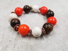 Orange Turquoise & Wood Set - DearBritt