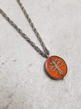 Orange Tree Silver Chain Necklace