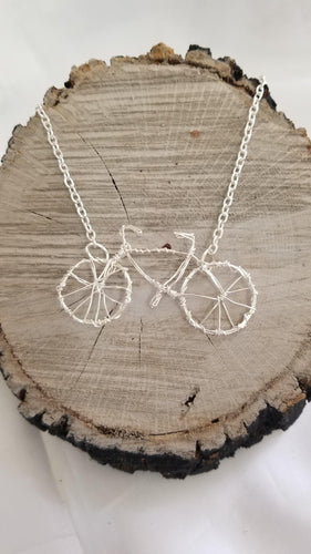 Wire Bicycle Necklace