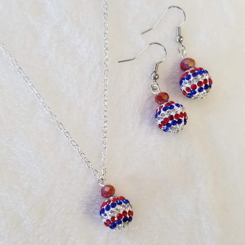 Red White & Blue Crystal Sparkle Set