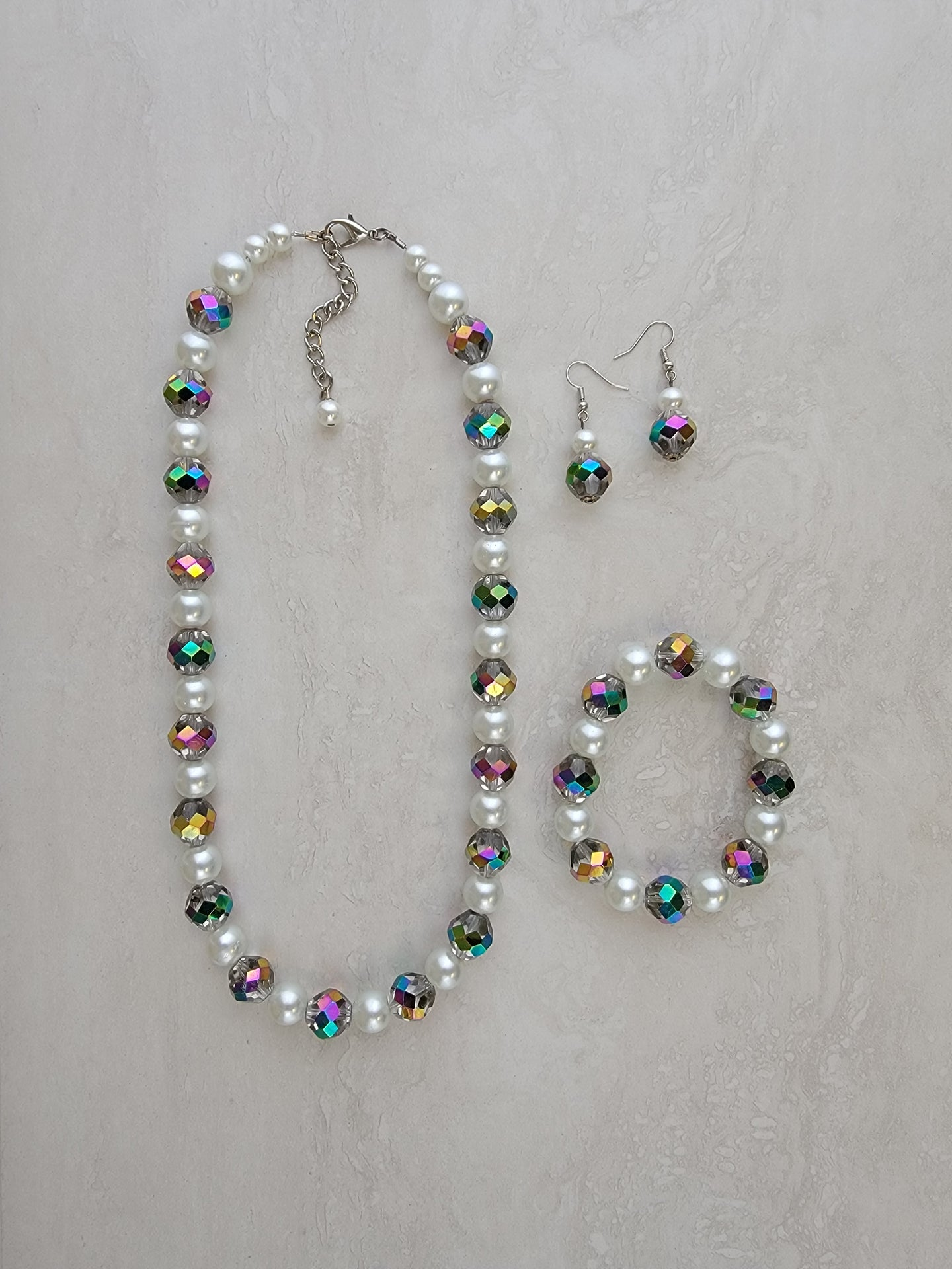 Iridescent & Pearl Set