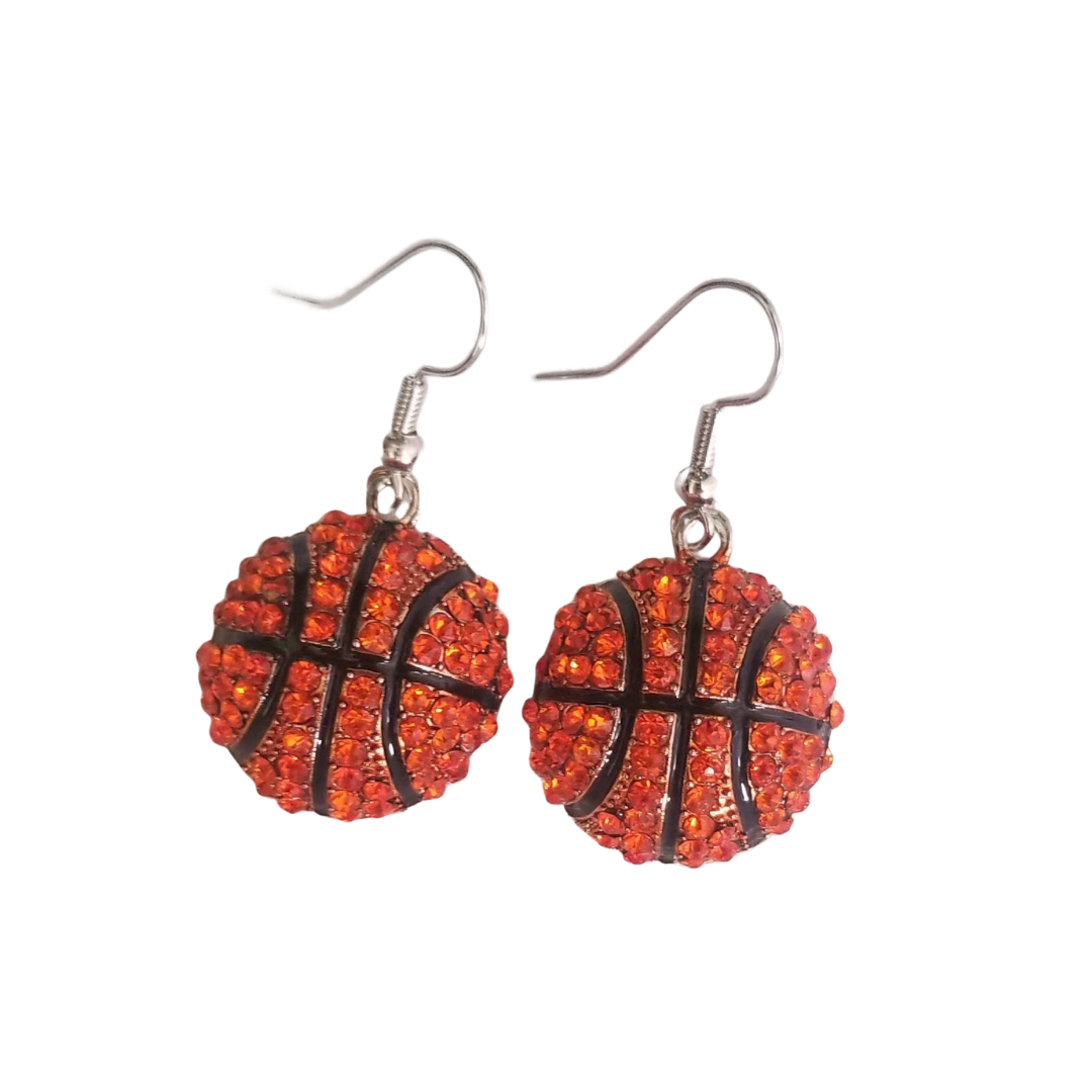 Sparkle Basketball Earrings
