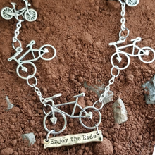 Enjoy The Ride Bicycle Charm Necklace - DearBritt