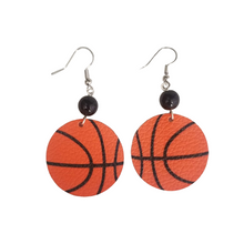 Leather Basketball Earrings