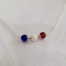 Red White & Blue Bead Necklace - DearBritt