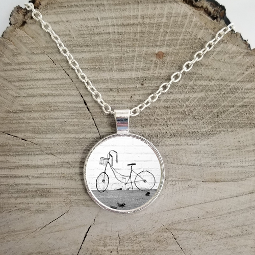 Bicycle Art Necklace