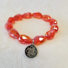 Orange Crystal Teardrop Bracelet