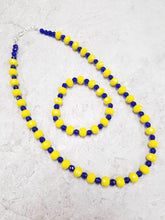 Blue & Yellow Crystal Set