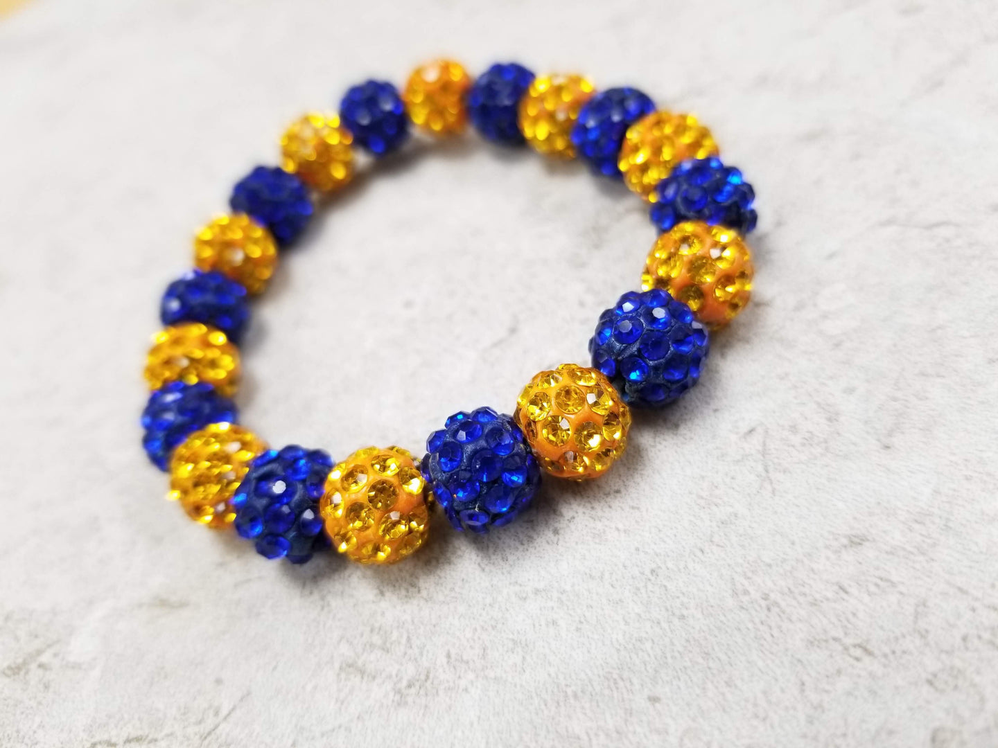 Blue & Yellow Sparkle Bracelet