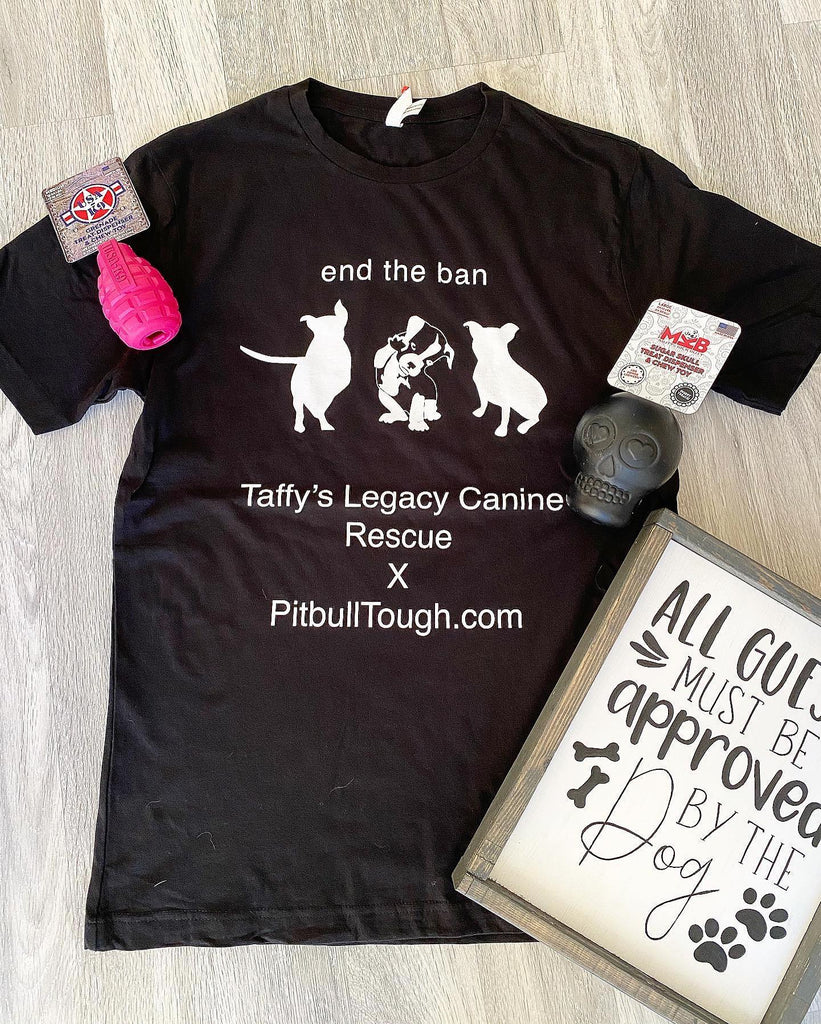 Pitbull Tough and Taffy's Tee
