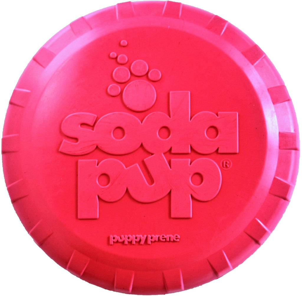 SodaPup Puppy Bottle Top Frisbee Rubber Dog Toy