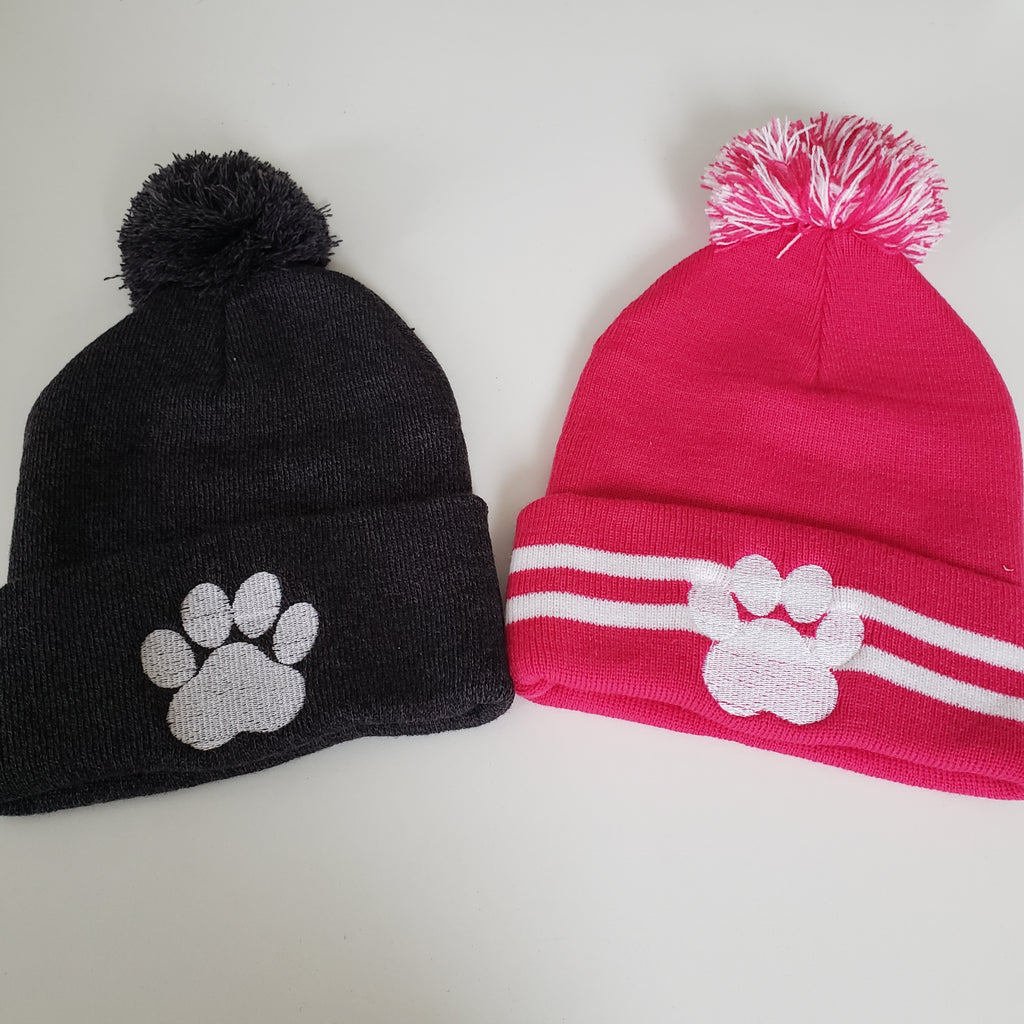 Pitbull Tough Pom Pom Hat - Grey