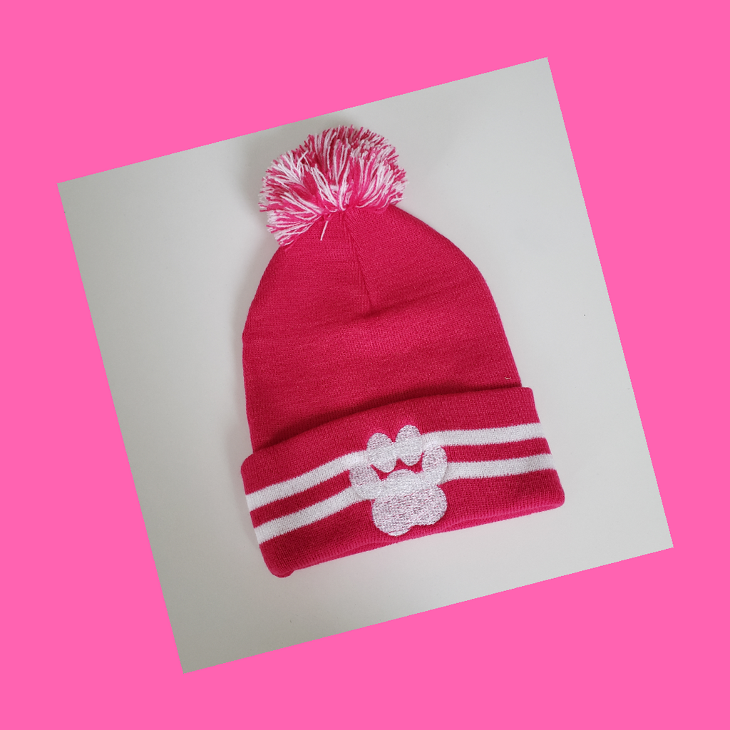Pitbull Tough Pom Pom Hat - Pink