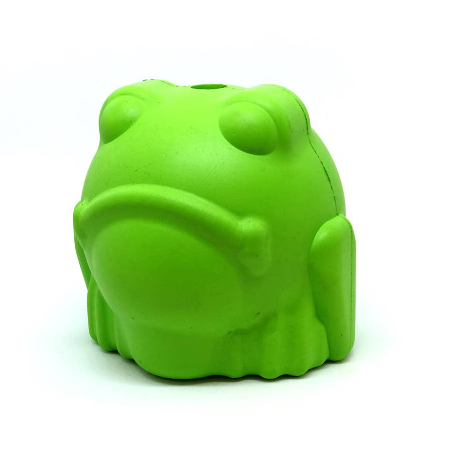 SodaPup Bull Frog Rubber Treat Dog Toy