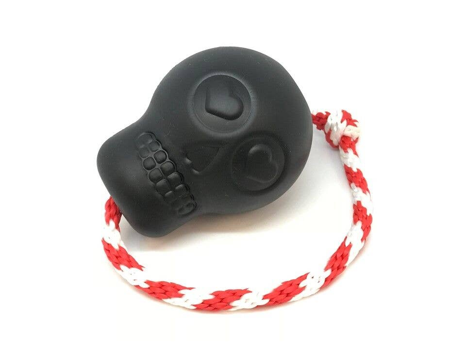 SodaPup Skull Rubber Treat Dog Toy