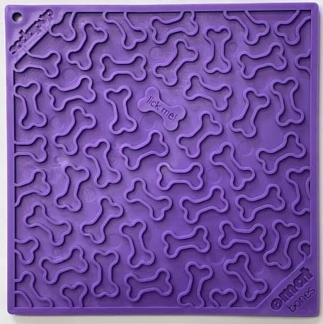 Sodapup Bones Enrichment Lick Mat (Purple and Red)