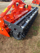 Vigolo DB heavy duty power harrow with packer roller,  Agriline NZ Tillage machinery.