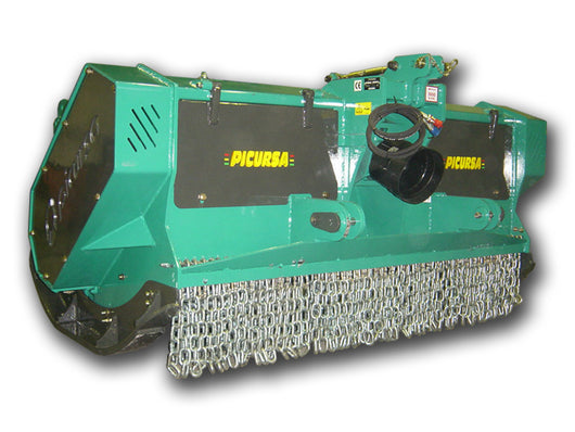 Picursa Power 6 Heavy Duty Forestry Mulcher - 360 degree swinging hammers