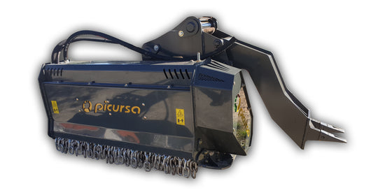 Excavator Mulcher | Picursa Retro Boxing Fixed Tooth Forestry Mulcher with ripper leg